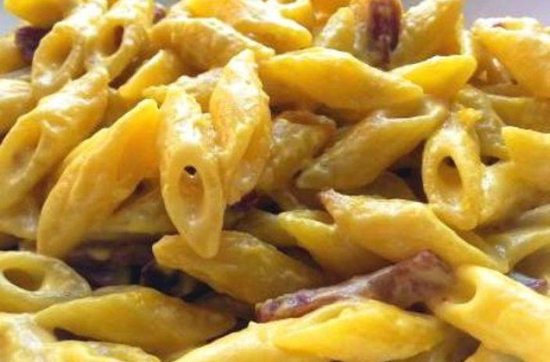 Pasta Mezze Penne Con Speck E Crema Di Tartufo Bianco Alba Tartufi 1 2 3 4 5 6 7 8